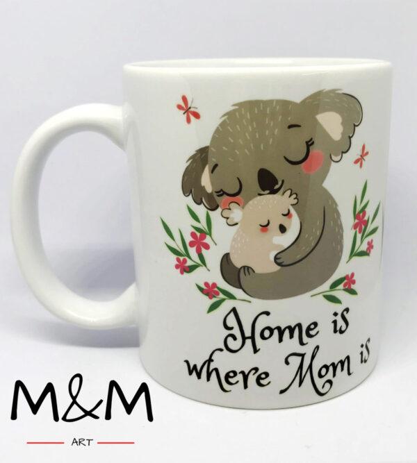 """Чаша """"Home is where mom is"""""""