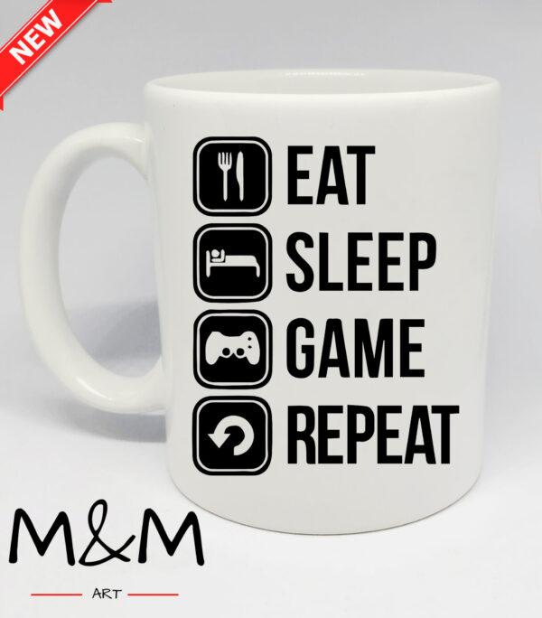 """Чаша """"Eat, sleep ..."""""""