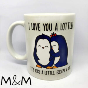 "Чаша "" I Love you a lottle"""