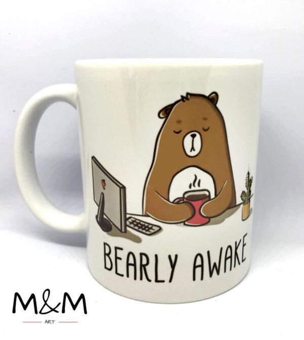 "Чаша ""Bearly awake"""